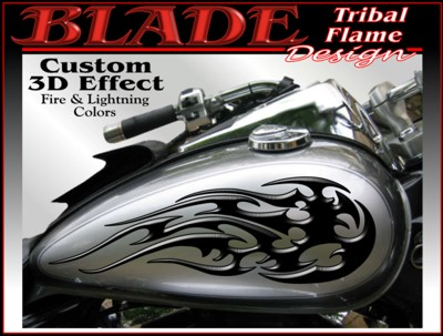 Motorcycle Graphics Kit Under Clear Paint Motorcycle Decals