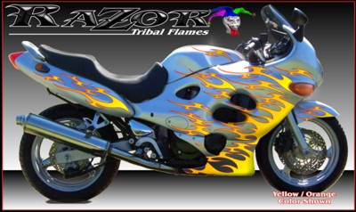 Motorcycle Graphics Kits Under Clear Paint Motorcycle Decals